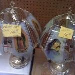 Virgin Mary lamps