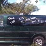 The van has a passion for Jesus...