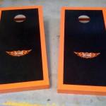 Harley-Davidson Cornholing