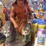 Indian and Wolves Satute