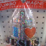 Jumbo Holographic I Heart Jesus Magnet