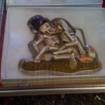 Skeleton make-out Belt Buckle